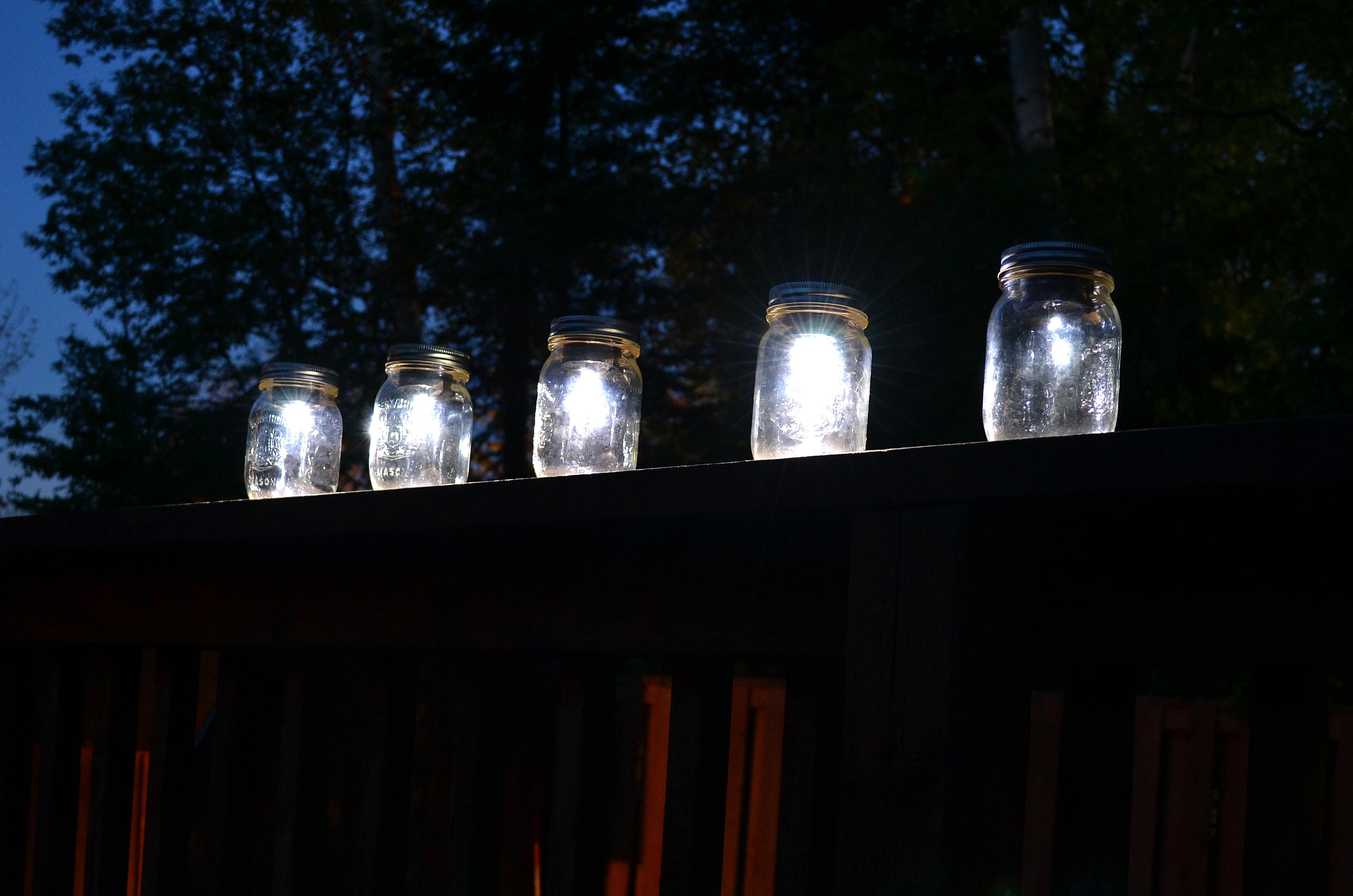 Light Up My Night Mason Jar Solar Lights Penned By Jenn